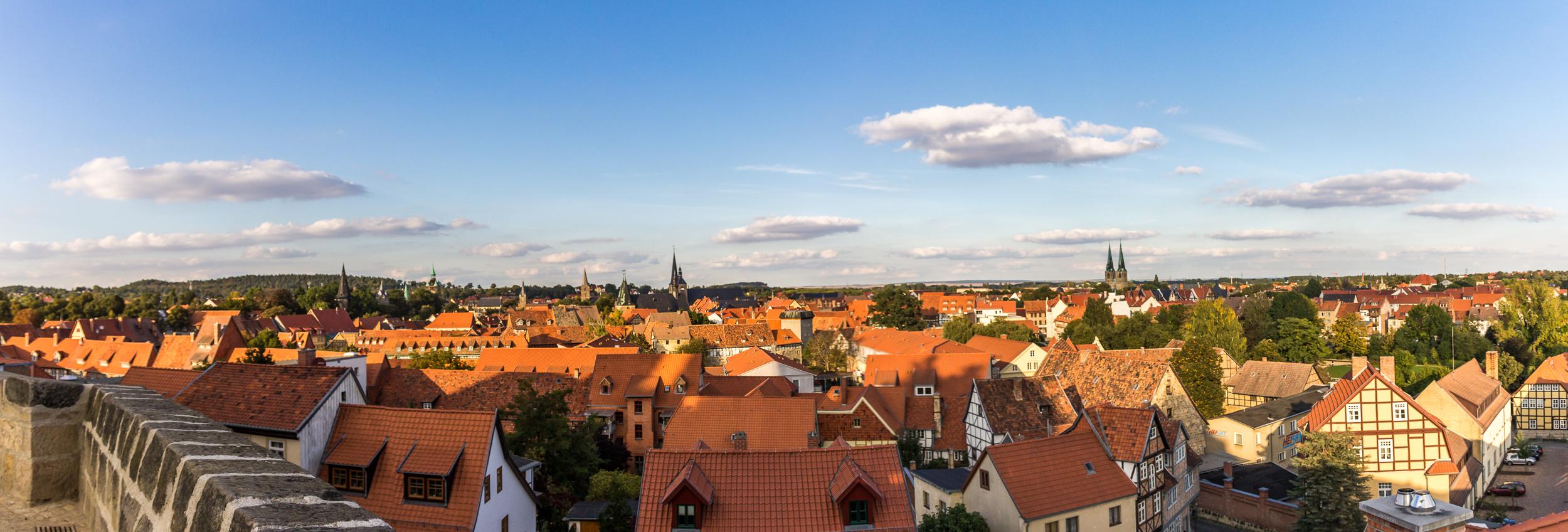 Blick vom Schloss über Quedlinburg